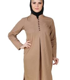 MyBatua Afnan Cotton Khaki Tunic