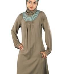 MyBatua Trendy Khaki Rayon Tunic