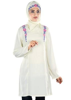 MyBatua Muzaynah White Tunic