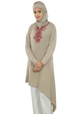 MyBatua Tisha Warm Grey Tunic