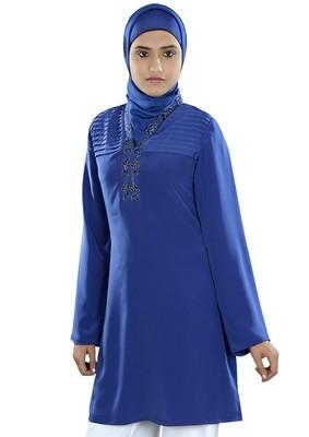 MyBatua Huda Royal Blue Tunic