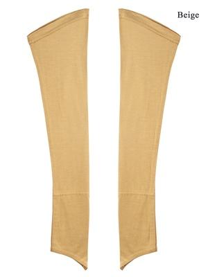 MyBatua beige Jersey Sleeves