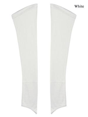 MyBatua White Jersey Sleeves