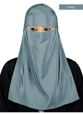 MyBatua grey Lamah Niqab