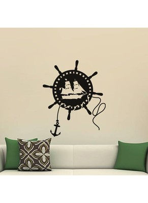 Wheel And Anchor Wall Decal