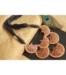 Beautiful Kemp Green Pearl Moon Designer Necklace