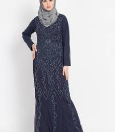 Nazneen Full embellished Navy Party Abaya