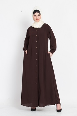 Nazneen Front open cuff and band casual Abaya
