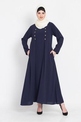 Nazneen Pleat And Decerative Button Abaya
