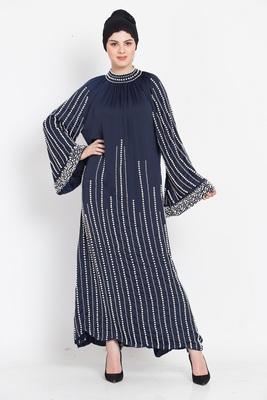 Nazneen Full Hand Work Pearls Embellished Wedding Abaya