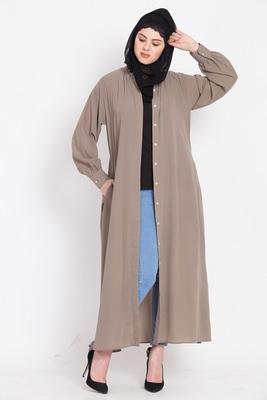 Nazneen Hidden Pleacket front open casual Abaya