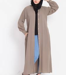 Nazneen Hidden Pleacket Front Open Casual Abaya