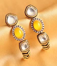 Gorgeous Designer Yellow White Earrings