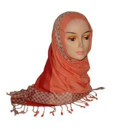 Buy Orange Checks viscose Hijab hijab online