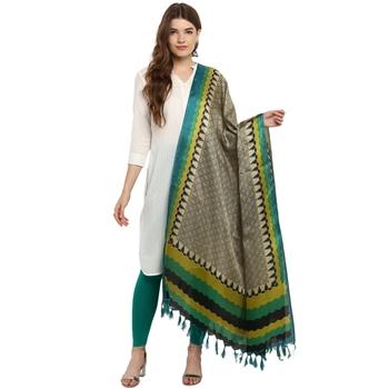 Designer party wear khadi silk dupatta