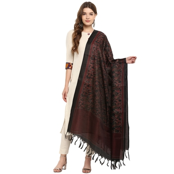 Designer party wear khadi silk dupatta