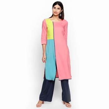 Pink rayon kurtas and kurtis