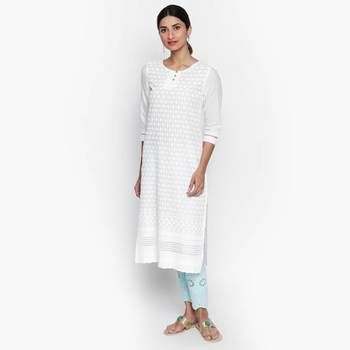 White cambric kurtas and kurtis