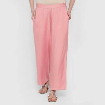 Pink Cambric palazzo pants
