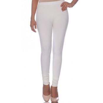 White Cotton Ethnic Wear Churidar Leggings For Women'S