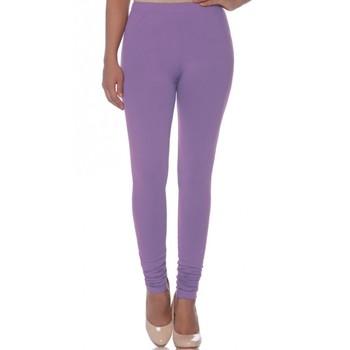 Purple Cotton Ethnic Wear Churidar Leggings For Women'S