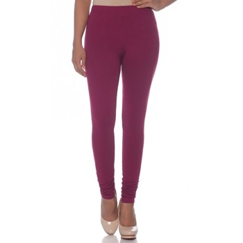 Maroon Cotton Ethnic Wear Churidar Leggings For Women'S