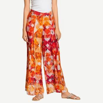 Orange Rayon palazzo pants