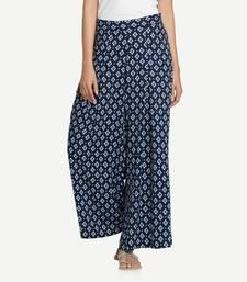Blue Rayon palazzo pants