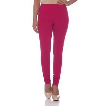 Pink Cotton Ethnic Wear Churidar Leggings For Women'S