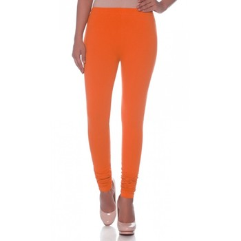 Orange Cotton Ethnic Wear Churidar Leggings For Women'S