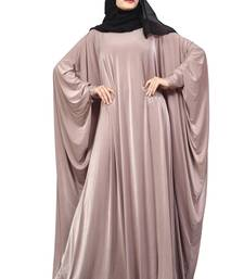 Buy Violet Color Plain Free Size Arabic Lycra Abaya With Chiffon Hijab Scarf For Women burka online