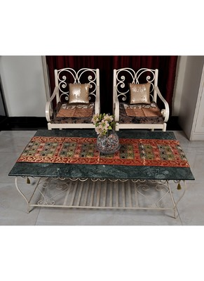 Lal Haveli Silk Dining Table Runner For Home Decorations