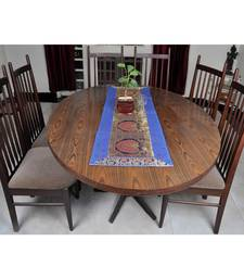 Lal Haveli Housewarming Gift Blue Color Designer Silk Table Runner Dining Table 60 X 16 inches