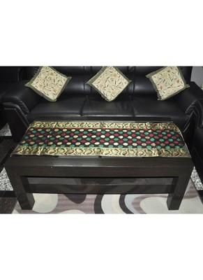 Polka Dot Design Silk Table Runner 63 x 17 Inches