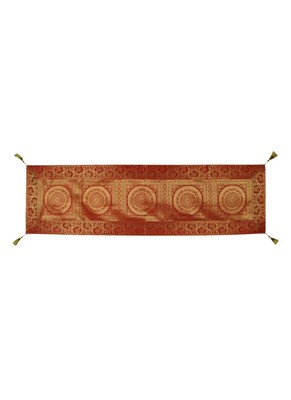 Lal Haveli Red Silk Table Runner for Wedding Decoration, Bright Silk and Smooth Fabric Party Table Runners 60 X 16 inch