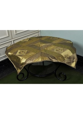 Elephant Work Design Square Silk Table Cloth 35 X 35 Inches