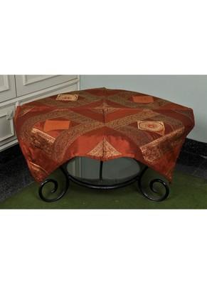 Ethnic Handmade Mandala Work Designer Silk Table Cloth 35 X 35 Inches