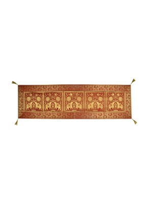 Lal Haveli Maroon Color Silk Table Runner 60 x 16 inch