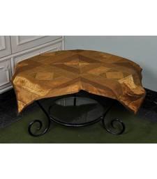 Home Decorative Elephant Work Silk Table Cloth 35 X 35 Inches