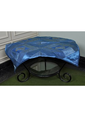 Silk Peacock Design Table Cloths 35 X 35 Inches