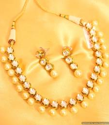 Buy Elegant Kundan Meenakari Pearl Necklace Set necklace-set online