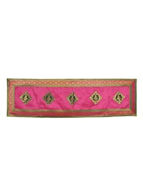 Jaipuri Handmade Elephant Work Decorative Silk Table Runner 60 X 16 Inches