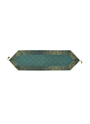 Lal Haveli Green Silk Table Runner Wedding Party Table Decorations/Birthday Parties 60 x 16 inch
