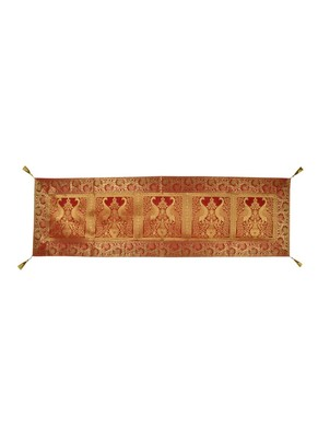 Lal Haveli Peacock Design Table Decor Silk Table Runner 60 x 16 inch