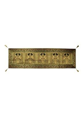 Lal Haveli Handmade Peacock Design Silk Table Runner 60 X 16 inch