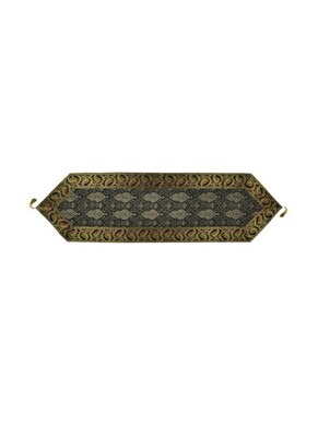 Lal Haveli Black Silk Table Runner for Wedding Decoration Bright Silk and Smooth Fabric Party Table Runner 60 X 16 inch