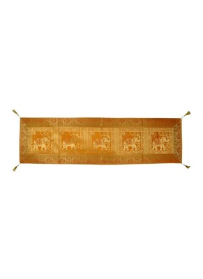 Lal Haveli Elephant Design Silk Table Runner Wedding Table Decorations Centerpieces 60 X 16 inch