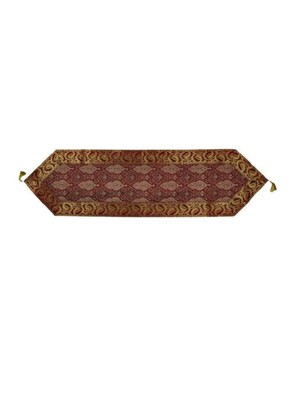 Lal Haveli Rectangle Shape Maroon Color Silk Fabric Decorative Table Runner for Wedding Party Table Decor 60 X 16 inch