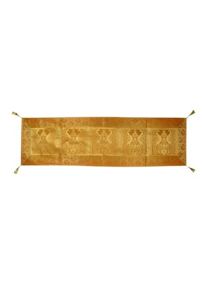 Lal Haveli Eye Catching Peacock Silk Table Runner for Parties Table Decor 60 X 16 inch