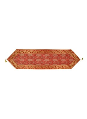 Lal Haveli Designer Red Silk Fabric Dining Table Runner Table Decor 60 x 16 inch
